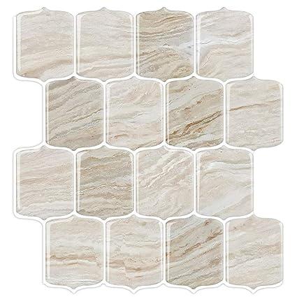 Awesome Stickgoo Marble Look Peel And Stick Tile Backsplash Stick On Backsplash Tiles Kitchen Backsplash Peel And Stick Self Adhesive Vinyl Wall Tiles Download Free Architecture Designs Itiscsunscenecom