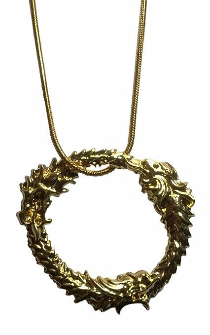 Amazon com: Elder Scrolls Skyrim Ouroboros Dragon Gold Color