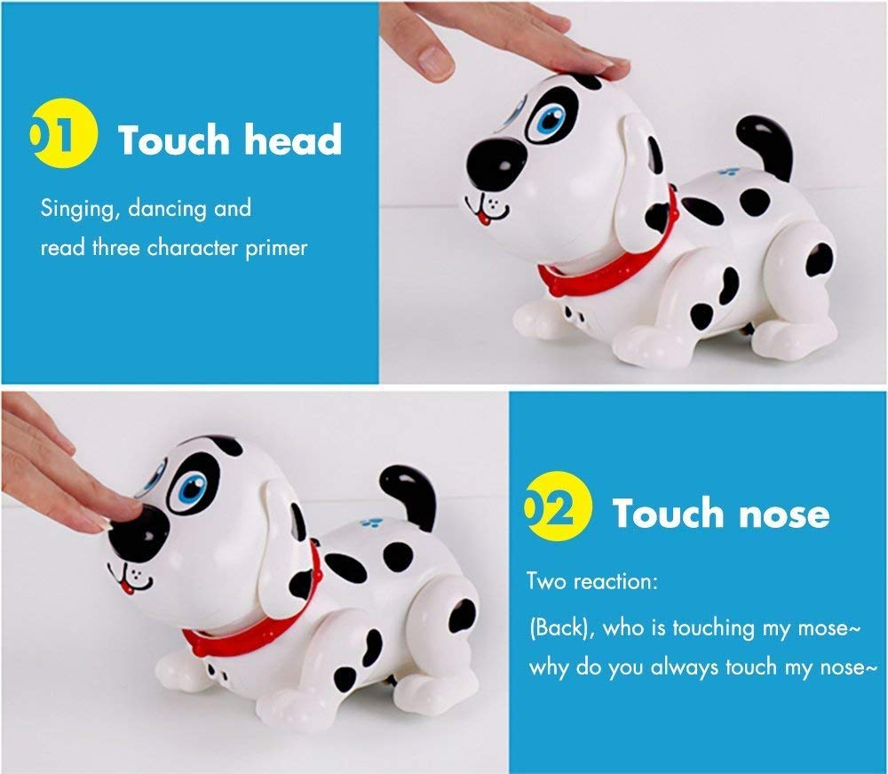 Electronic Dog,Interactive Puppy, Touch with Chasing, Walking, Dancing, Music, Interactive and Induction Toys for Boys or Girls Birthday Gifts by MIGO (Image #3)