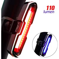 Don Peregrino Lumens High Brightness Bike Rear Light with 5 Steady/Flash Modes