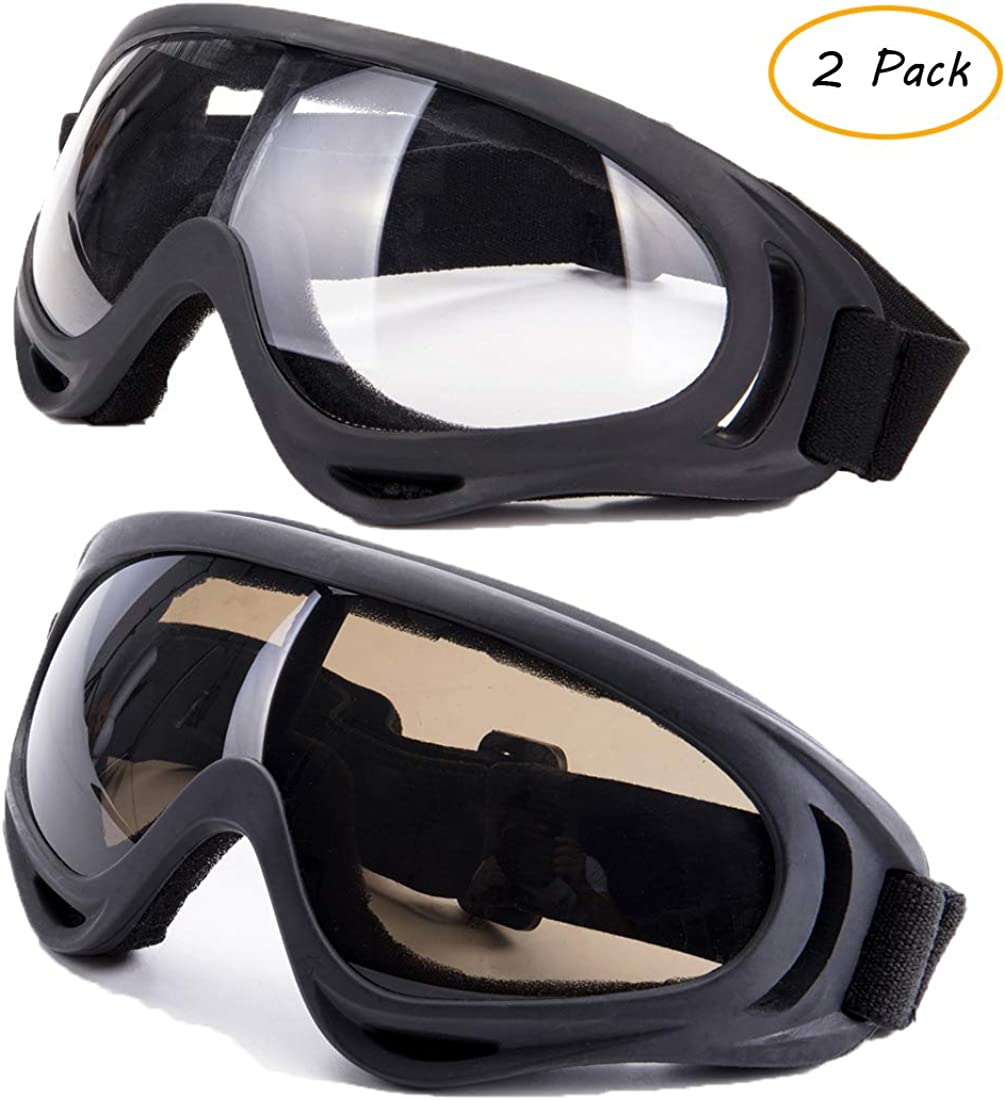 Ski Goggles,UV Protection Windproof Dustproof Snowmobile Motorcycle Glasses