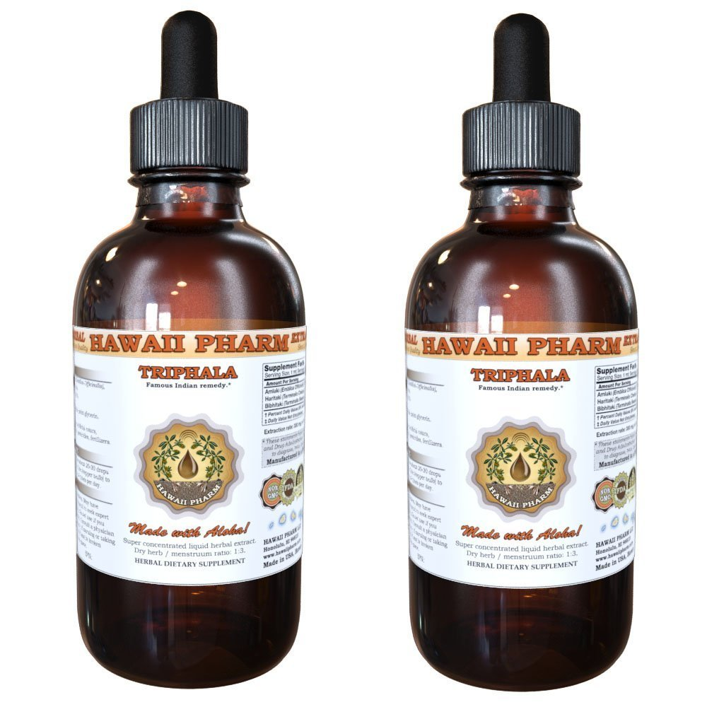 Triphala Liquid Extract, Organic Triphala Blend Tincture Herbal Supplement 2x4 fl.oz