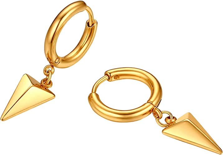 Ohrringe Edelstahl Ohrstecker Creolen Silber Damen gold