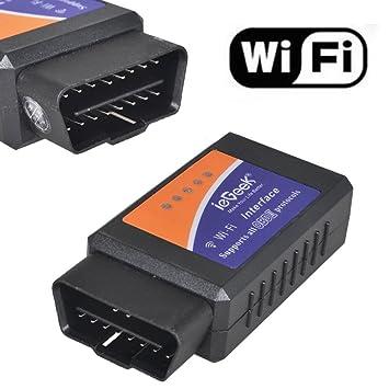 WiFi Wireless OBD-II Mini ELM327 OBD2 Auto Car Diagnostic Scanner Tool  Adapter Reader Scan Code Tester for iPhone4S/5 iPad4 iPod mini IOS PC  Windows,