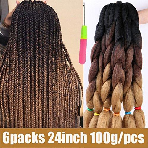 Ur Meili 24 100g Pack 3 Tone Ombre Kanekalon Jumbo Braids Hair