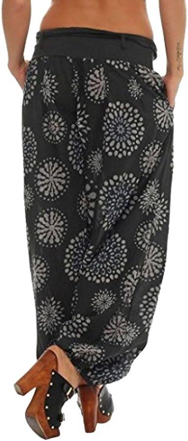 Women`s Palazzo//harem trousers floral pattern tapered leg  plus sizes S-XXL