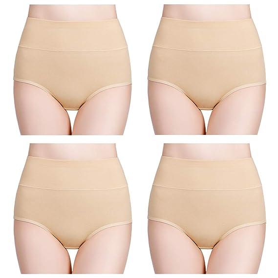 b179ad37f09a wirarpa Womens High Waist Bamboo Modal Underwear Full Brief Panties  Multipack