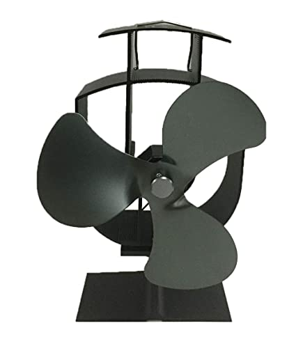 Ventilador de chimenea, XBCC estufa de leña estufa ventilador estufa chimenea estufa funcionamiento silencioso 3