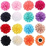 """PET SHOW Pack 15 4"""" Dog Collar Charms Flower Accessories for Cat Puppy Collars Bowtie Grooming"""