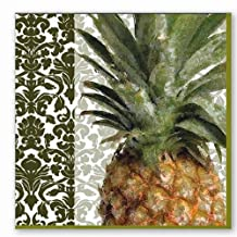 Ideal Home Range 20-Count Boston International 3-Ply Paper Cocktail Napkins, Exotic Pineapple