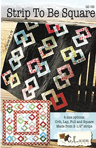 Strip to Be Square Quilt Pattern No. GE-150 by G.E. Designs Iceland Jelly Roll 2.5