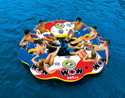 WOW World of Watersports, 13-2060 Tube A Rama, 10 Person Inflatable Floating Island, 12 Foot Diameter by WOW Sports (Image #4)
