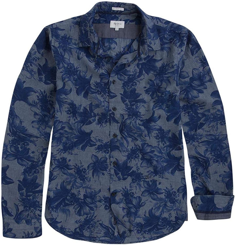 Pepe Jeans Camisa Dexter Azul Hombre S Marino: Amazon.es ...