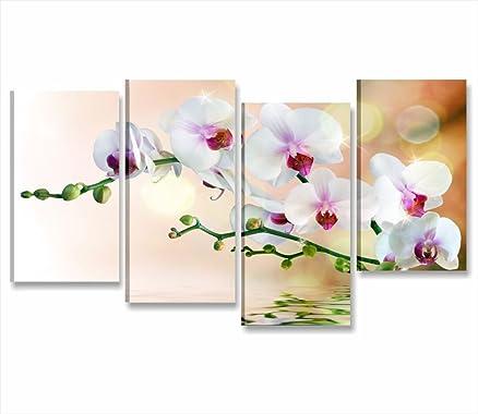 orchidea riflesso 3 - quadro moderno intelaiato 152x78 cm stampa ... - Orchidea In Camera Da Letto