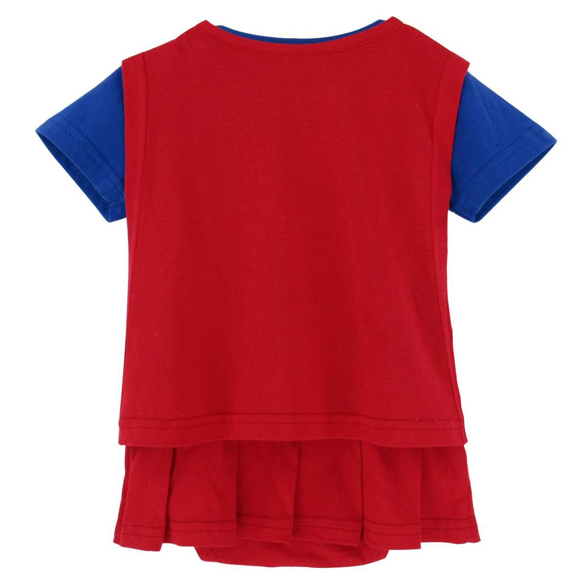Blue Supergirl Caped Baby Toddler Girl Romper Party Dress Outfit 12-18 Months Blue Red Yellow