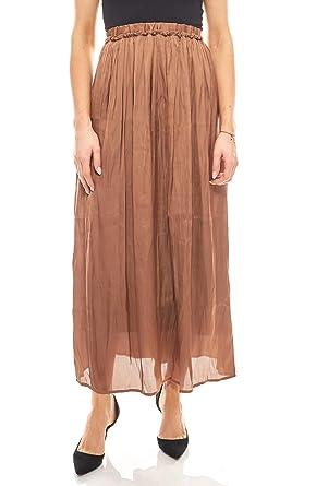 RICK CARDONA - Falda - para Mujer marrón 48 ES: Amazon.es: Ropa y ...