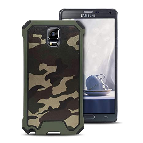 MOEVN Armor Funda para Samsung Note 4, Galaxy Note 4 Carcasa Camuflaje PC + TPU 2 en 1 Silicone Cover Protección Duro Caso Choque Amortiguador ...