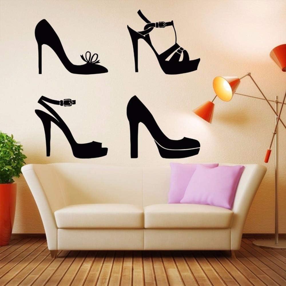 jiuyaomai Zapatos de Vestir Tacones Patrón de Moda Pegatinas