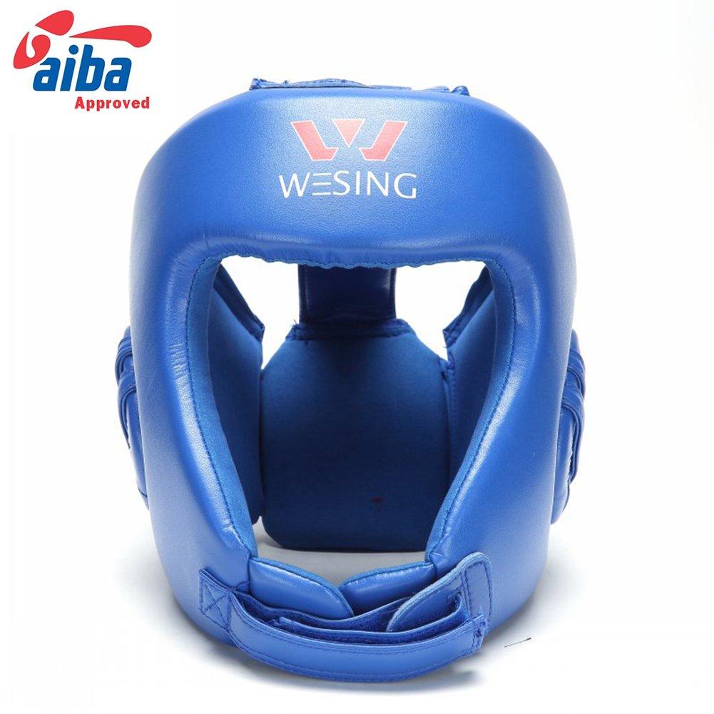 Wesing Professional Aiba Boxing Headgearボクシングヘッドガード ブルー Medium