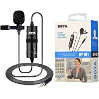 Boya By-M1 Omni Directional Camera Lavalier Condenser Microphone by M1 Mi Crophone for Smartphones, Canon, Nikon Dslr Cameras and Camcorders
