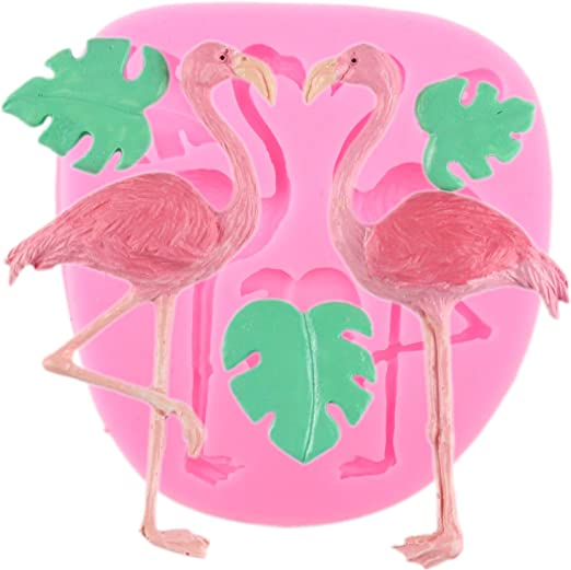 Flamingo Turtle Leaf Silicone Molds Clay Mould Cake Decorating Tools DIY