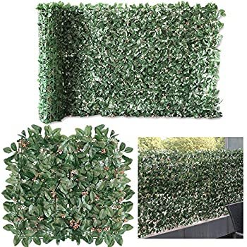 Amazon.com: Petgrow Artificial Ivy with Flower for Fence