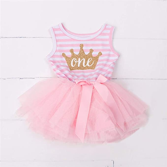 Amazon.com: Chitop 1 Year Baby Girl Dress Princess Girls - Tutu ...