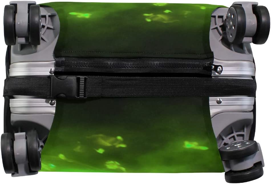 FOLPPLY Green Flame Soccer Luggage Cover Baggage Suitcase Travel Protector Fit for 18-32 Inch