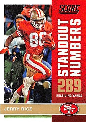 new styles 8451b f4ac8 Jerry Rice football card (San Francisco 49ers) 2017 Score #2 ...