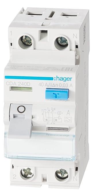 Hager CDA240D FI-Schalter 40A 30mA A-Typ 2-polig: Amazon.de: Küche ...
