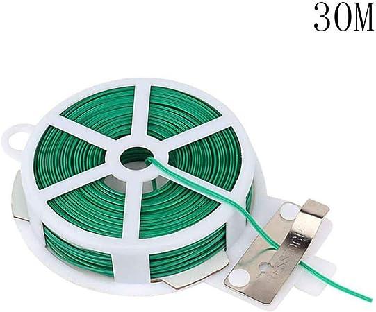 Corbata de jardín con Bolsa de protección línea de unión de Alambre de plástico Plantas trepadoras Cable Flor Pepino UVA Ratán Titular # 1219-30M: Amazon.es: Hogar