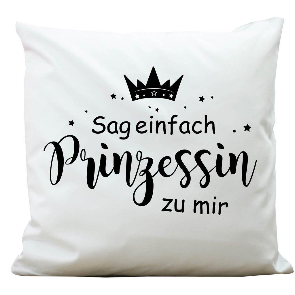 """Wandtattoo-Loft Kissen """"Sag einfach Prinzessin zu mir"""" mit Krone - Deko Kissen 40 x 40 cm mit Füllung Wandtattoo-Loft.de®"""