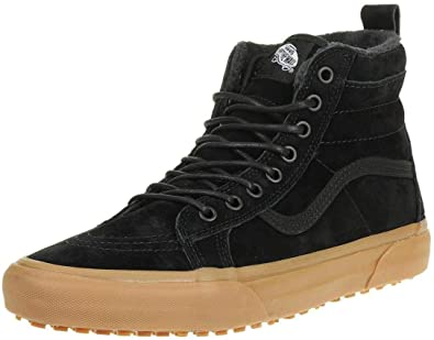 24c2d5ddefe Vans SK8 Hi MTE Black Gum Mens Leather Skate Trainers  Amazon.co.uk ...