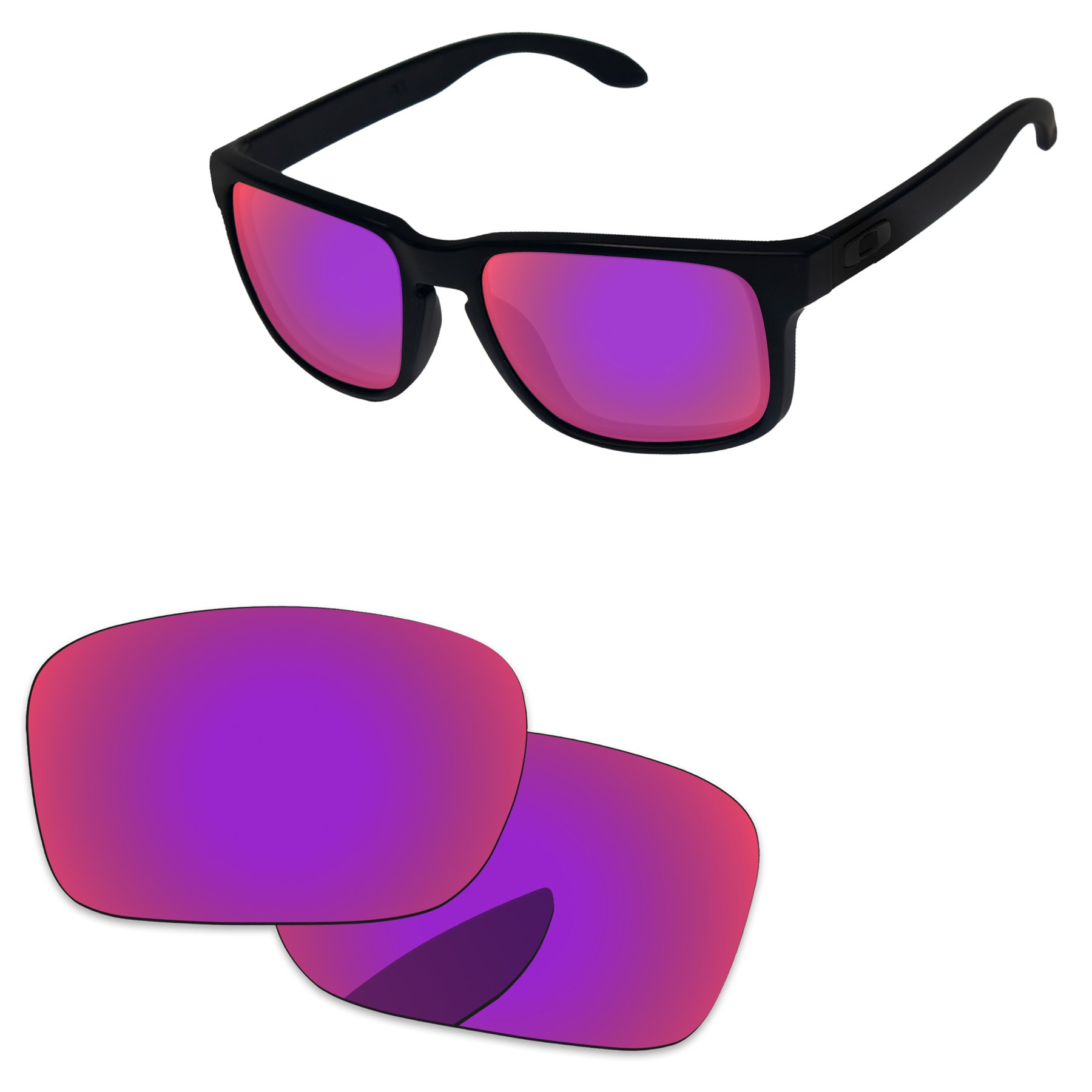 PapaViva Replacement Lenses for Oakley Holbrook Midnight Sun - Polarized