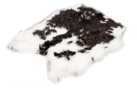 NaDeco Kaninchenfell | Hasenfell gescheckt | Dekofell | Naturfell