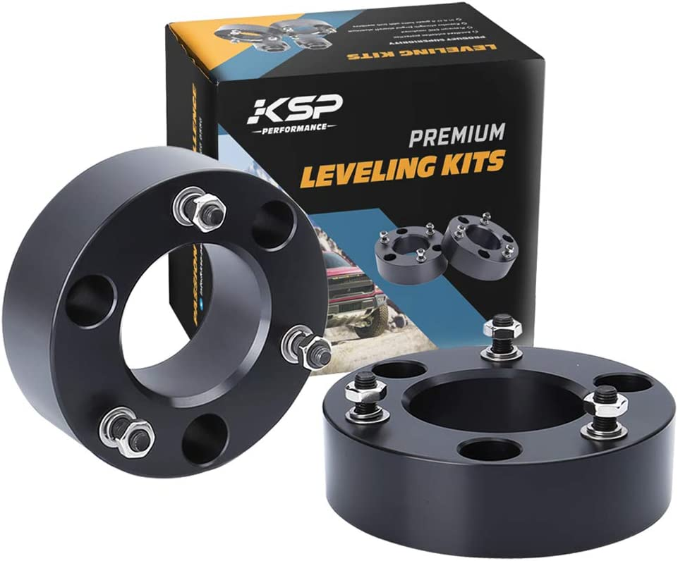 """2"""" Leveling Lift Kit for Silverado Sierra 1500, KSP Forged Lift Kit 2"""" Front Lift Kit For 2007-2019 Silverado Sierra 1500 Front Strut Spacers Raise the Front Of Your Vehicle 2 Inch"""