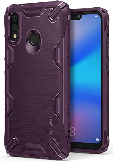 Ringke Onyx-X Compatible with Huawei P20 Lite Case, Military Grade Clear Back Shock Absorbent Cover - Lilac Purple