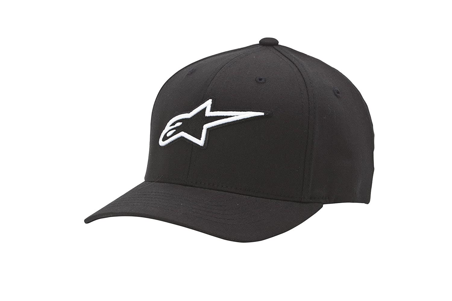 Amazon.com  Alpinestars Men s Curved Bill Structured Crown Flex Back 3D  Embroidered Logo Flexfit Hat  Clothing 59be1d6e59b