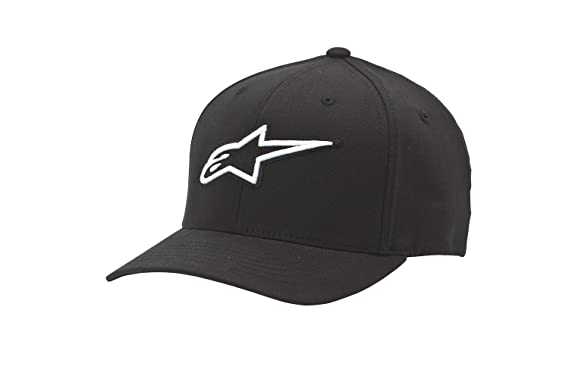 fe025c8a55d68 Amazon.com  Alpinestars Men s Curved Bill Structured Crown Flex Back 3D  Embroidered Logo Flexfit Hat  Clothing