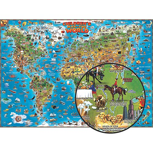Round World Products RWPDM001-A1 Children's Map of The World, 54