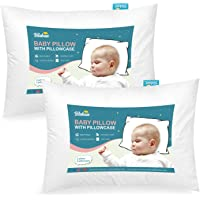 Toddler Pillow for Sleeping 2 Pack, Kids Pillow with Pillowcase, Comfortable and Soft Small Travel Pillow for Cot Bed…
