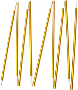 TRIWONDER Tent Pole 2 PCS - Aluminium Rod Tent Pole Replacement Accessories Tent Bar Tent Building Supporting Rod Awning Frames Kit for Hiking Camping