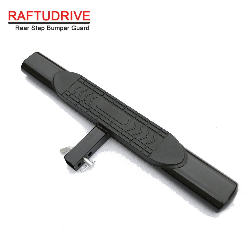 RAFTUDRIVE Universal Black 5'' Oval Hitch Step Rear Step Fit Vehicles with 2'' Receiver by RAFTUDRIVE