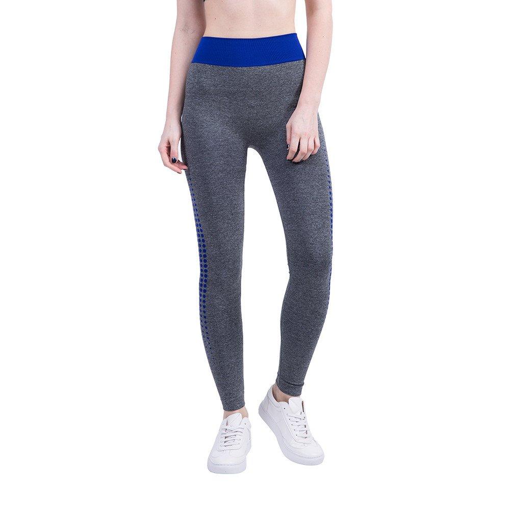 Leggings for Girls, Yoga Clothing,Women Gym Yoga Patchwork Sports Running Fitness Leggings Pants Athletic Trouser,Blue,XL