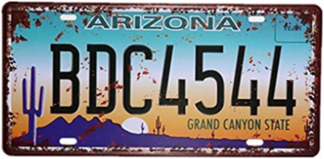 Eureya Arizona BDC4544 automatique de voiture de plaque dimmatriculation Tag Home//CAFE Bar//Pub//restaurant//salon D/écoration murale Poster vintage plaque 15,2 x 30,5 cm