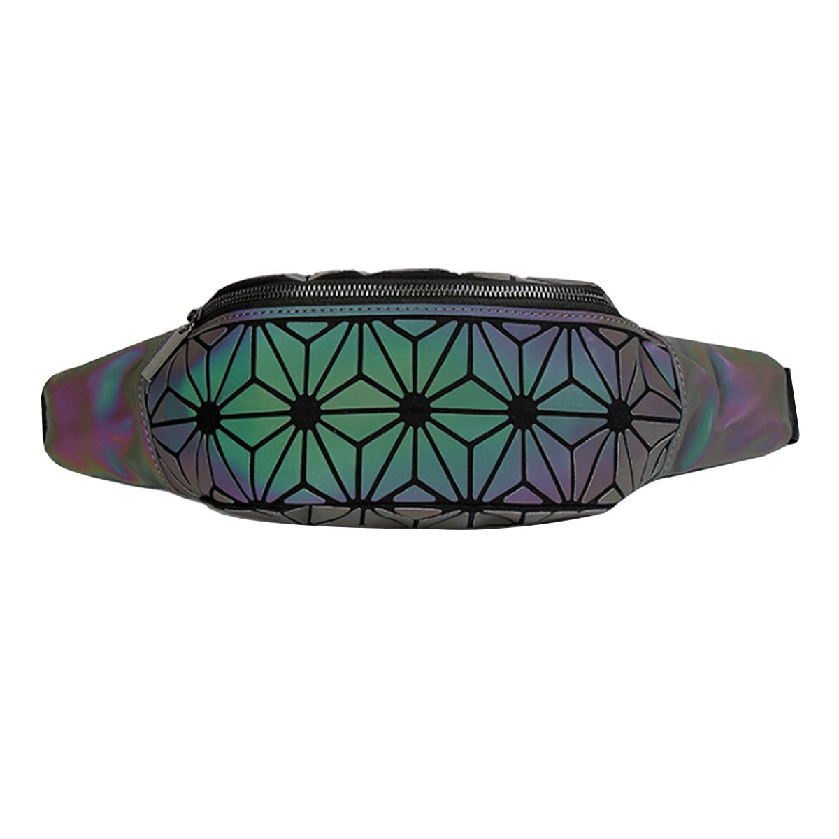 Triangle Sherry Waist Bag Geometric Luminous Fanny Pack Waist Pack Chest Bag Sport Outdoor Travel Bum Bag for Women