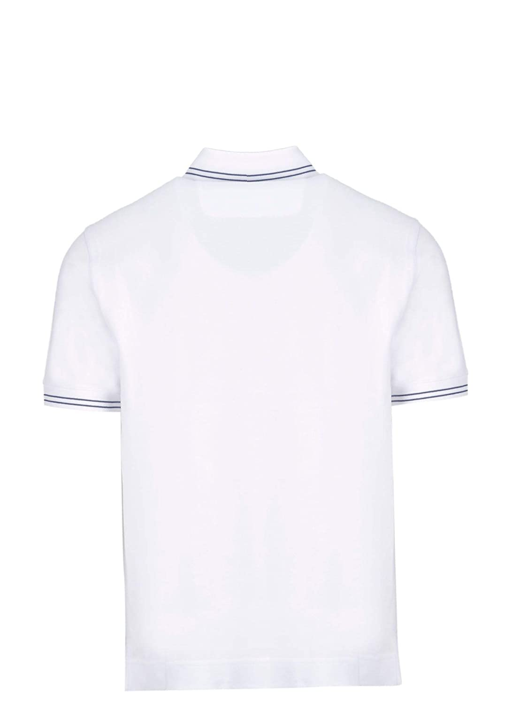 55c892a951 Z Zegna Men's VS370ZZ600N00 White Cotton Polo Shirt at Amazon Men's ...