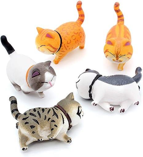 Cool Color Auto Verzierungen Katze Fahrzeug Innendekoration K/ätzchen Katze Figuren Geschenke Autoaccessoires