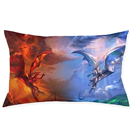 Amazon Com Plo Ice Dragon And Fire Dragon Sofa Pillows Soft Bed