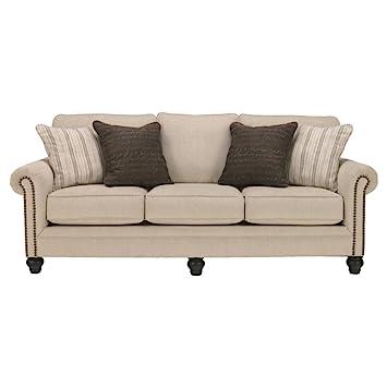 Ashley Furniture Signature Design - Milari Sofa - Classic Style Couch -  Linen